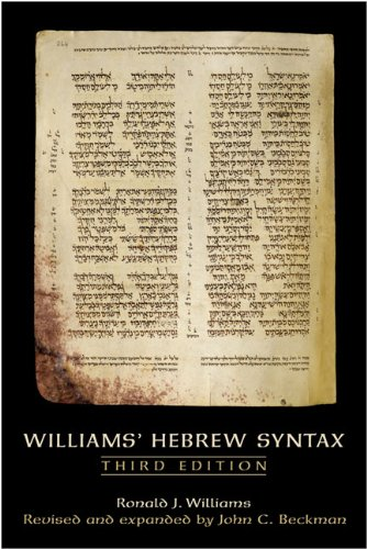 Williams' Hebrew Syntax  3rd 2007 (Revised) edition cover