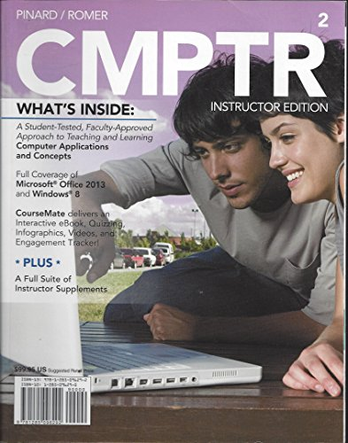 CMPTR 2 >INSTR.ED<             N/A 9781285096292 Front Cover