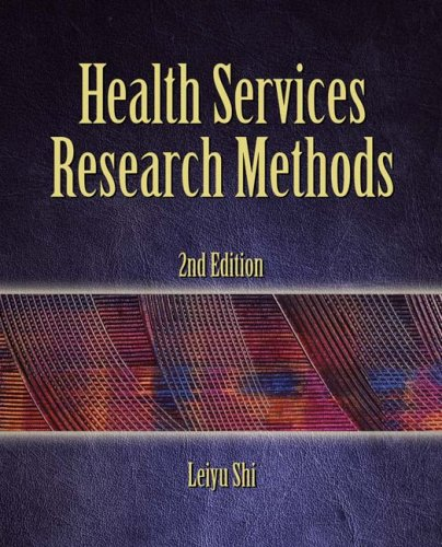 Health Services Research Methods  2nd 2008 edition cover