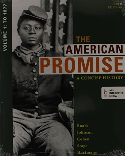 American Promise: a Concise History 5e V1 and Reading the American Past 5e V1  5th 2014 edition cover