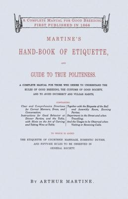 Martine's Handbook of Etiquette   1996 (Reprint) 9781557094292 Front Cover