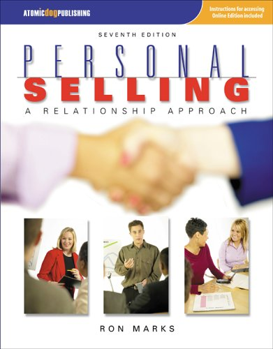 Personal Selling A Relationship Approach 7th 2006 edition cover