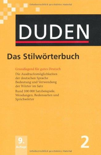 Das Stilworterbuch:  2010 edition cover