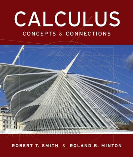 Calculus Concepts and Connections  2006 9780073309293 Front Cover
