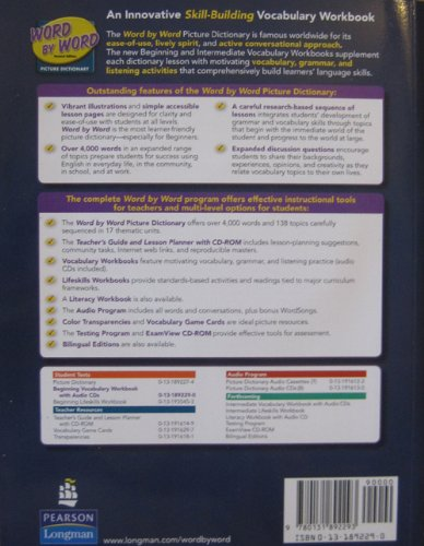 Beginning Vocabulary Workbook - Word by Word  2nd 2005 9780131892293 Front Cover