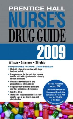 Prentice Hall Nurse's Drug Guide 2009   2009 9780135034293 Front Cover