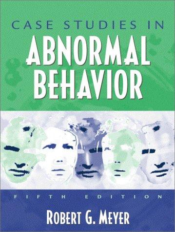 Case Studies in Abnormal Behavior  5th 2001 edition cover