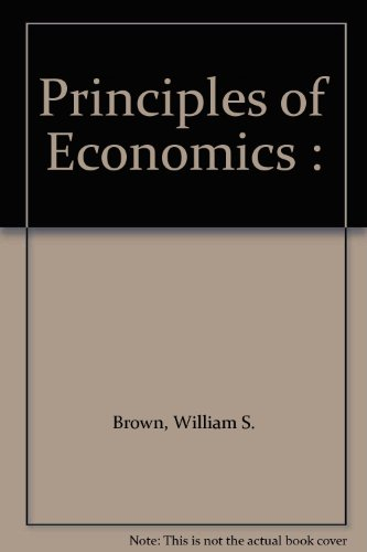 Principles of Economics 1st 9780314042293 Front Cover