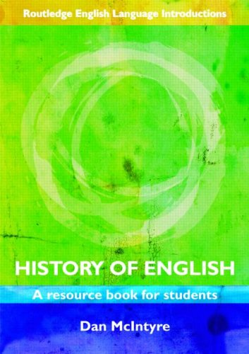 History of English A Resource Book for Students  2008 edition cover
