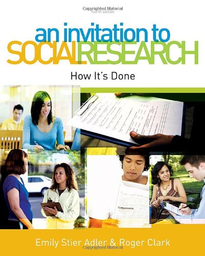 Invitation to Social Research How It's Done 4th 2011 edition cover