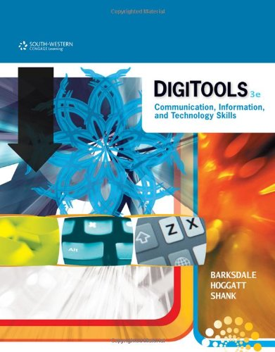 DigiTools Communication, Information, and Technology Skills 3rd 2012 9780538741293 Front Cover