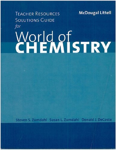 World of Chemistry N/A 9780618072293 Front Cover