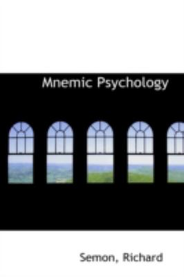 Mnemic Psychology  N/A 9781113208293 Front Cover
