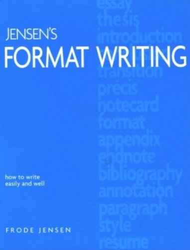 Jensen's Format Writing   2002 edition cover