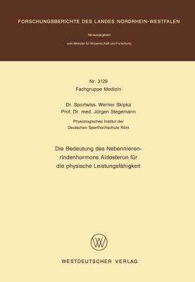 Die Bedeutung des Nebennierenrindenhormons Aldosteron F�r Die Physische Leistungsf�higkeit   1982 edition cover