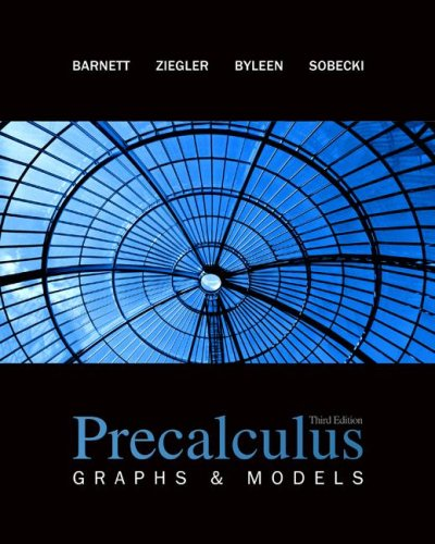 Precalculus Graphs and Models 3rd 2009 edition cover