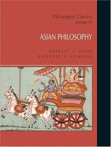 Philosophic Classics Asian Philosophy  2005 edition cover