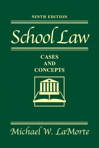 School Law Cases and Concepts 9th 2008 (Revised) edition cover