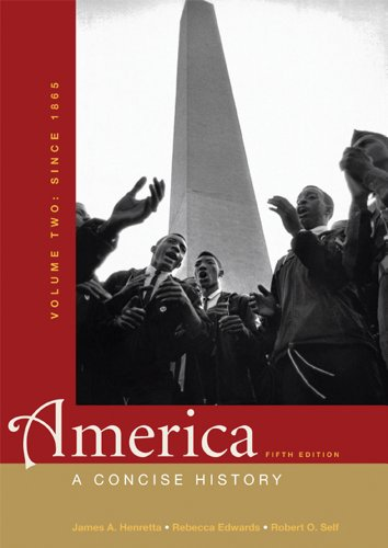 America A Concise History - Since 1865 5th 2012 edition cover