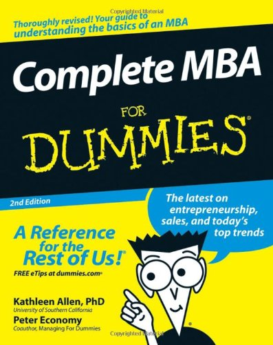 Complete MBA for Dummies  2nd 2008 edition cover