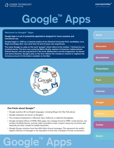 Google Apps   2010 9780538744294 Front Cover