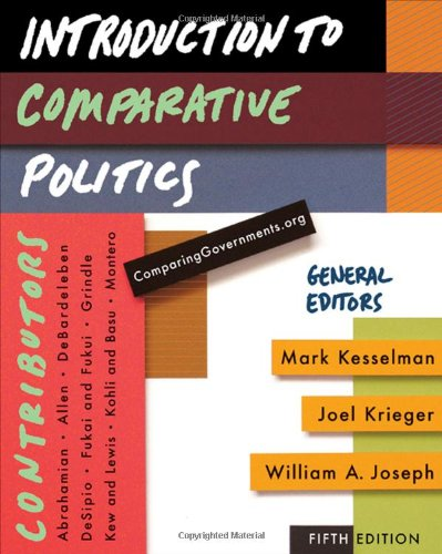 Introduction to Comparative Politics  5th 2010 9780547216294 Front Cover