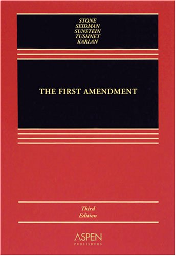 First Amendment  3rd 2008 (Revised) edition cover