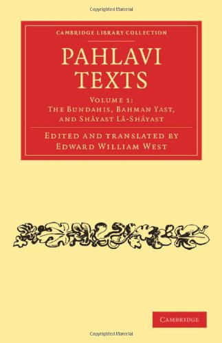 Pahlavi Texts:   2012 edition cover
