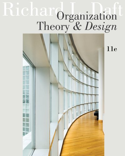 Organization Theory and Design  11th 2013 edition cover