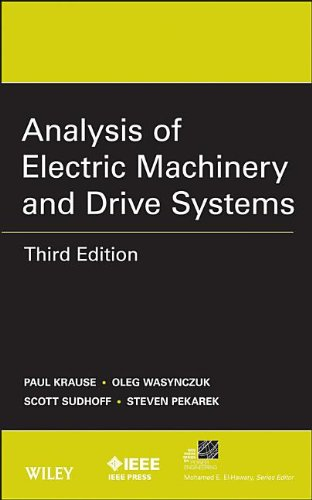 Analysis of Electric Machinery and Drive Systems  3rd 2013 edition cover