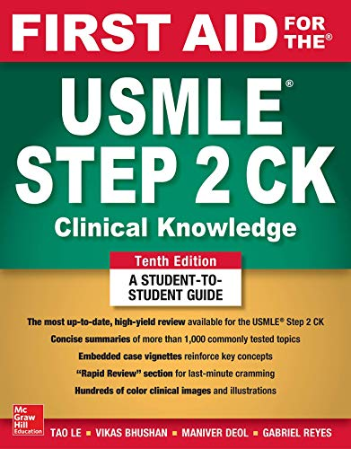 First Aid for the USMLE Step 2 Ck:   2018 9781260440294 Front Cover