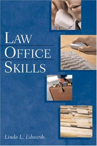 Law Office Skills   2003 9781401812294 Front Cover