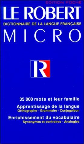 Robert Micro Poche Dictionnaire de la Langue Francaise 1st edition cover