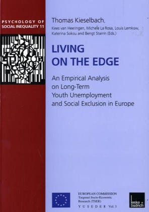Living on the Edge An Empirical Analysis on Long-Term Youth Unemployment and Social Exclusion in Europe  2001 9783810029294 Front Cover