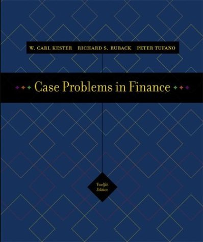 Case Problems in Finance with Excel Templates  12th 2005 (Revised) edition cover