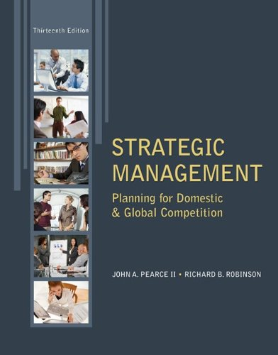 Strategic Management  13th 2013 edition cover