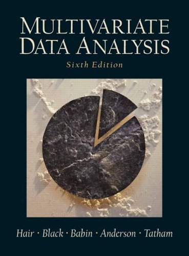 Multivariate Data Analysis  6th 2006 (Revised) edition cover