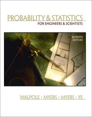 Probability and Statistics for Engineers and Scientists  7th 2002 edition cover