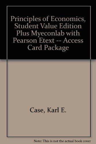 Principles of Economics, Student Value Edition Plus MyEconLab with Pearson EText -- Access Card Package  11th 2014 edition cover