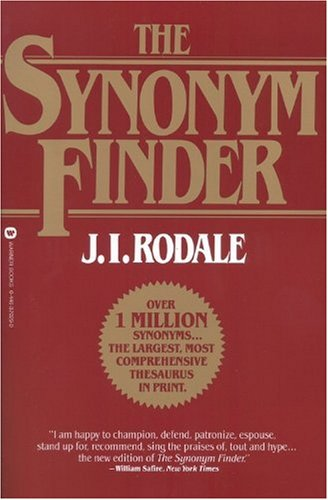Synonym Finder   1978 (Revised) edition cover