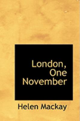 London, One November:   2008 edition cover
