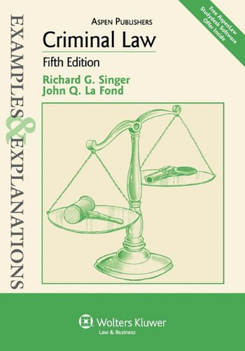 Criminal Law  5th 2010 (Student Manual, Study Guide, etc.) edition cover