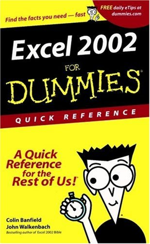 Excel 2002 for Dummies   2001 9780764508295 Front Cover