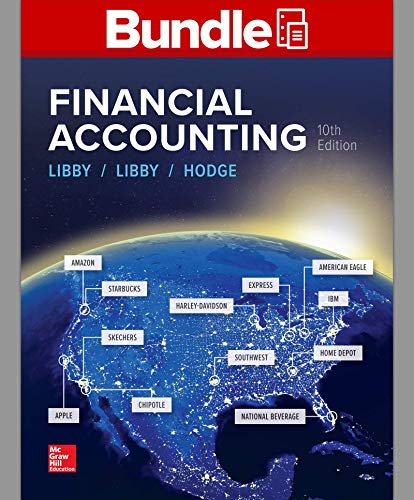 GEN COMBO LOOSELEAF FINANCIAL ACCOUNTING with CONNECT Access Card  10th 9781260696295 Front Cover