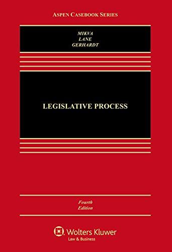 Legislative Process  4th 2015 edition cover