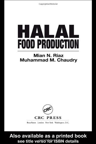 Halal Food Production   2003 edition cover
