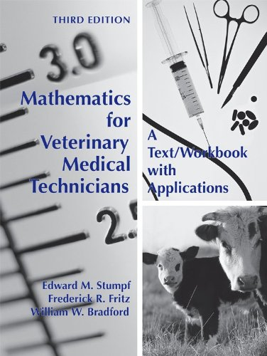 Mathematics for Veterinary Medical Technicians A Text/Workbook with Applications 3rd 2009 edition cover