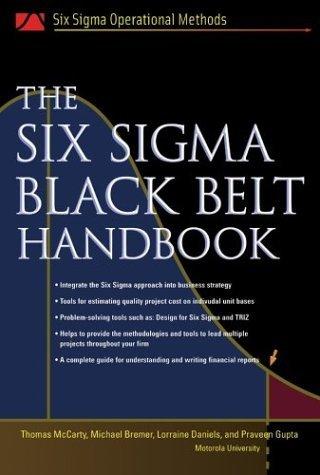 Six Sigma Black Belt Handbook   2005 edition cover