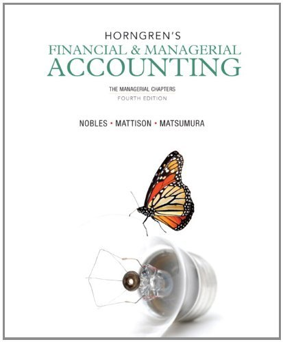 Horngren's Financial & Managerial Accounting:  4th 2013 edition cover