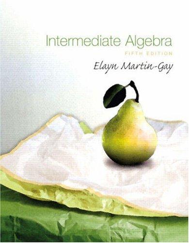 Intermediate Algebra  5th 2009 edition cover